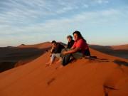 Aufstieg der Düne, Volunteers im Süden Namibias